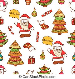christmas pattern - Christmas vector seamless pattern....