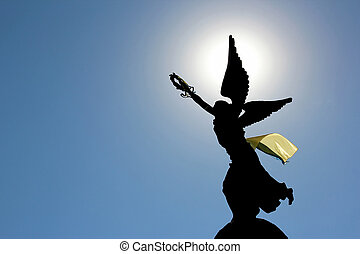 the independence monument in Kharkov, Ukraine - the...