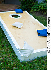 Cornhole Game Board Vertical - Cornhole game board bean bag...