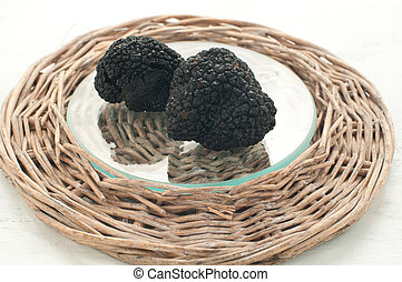 Blacks winter truffles from Umbria called scorzoni, italy