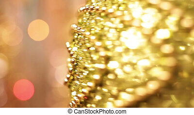 Christmas and New Year Decoration. Abstract Blurred Bokeh...
