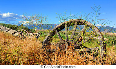 Dilapidated Old West Wagon - Abandoned and dilapidated wagon...