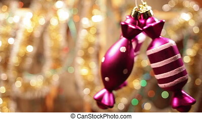 Christmas and New Year Decoration Abstract Blurred Bokeh...