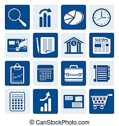 Business and Office Internet Icons - One tone Business and...