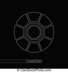diamond vector on black background