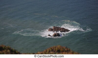 Close up of rocks at at Cabo da Roca Portugal - Rocks and...