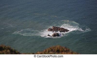 Close up of rocks at at Cabo da Roca Portugal - Rocks and...
