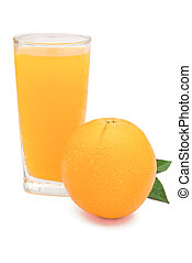 Orange and orange juice with clipping path 2