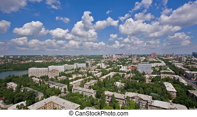 Beautiful Cityscape With Clouds - beautiful cityscape with...