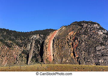 Devils Slide is found on Cinnabar Mountain in Montana Slide...