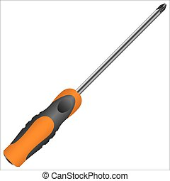screwdriver with different bits on a white background vector