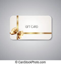 Elegant Gift cards with bow ribbons