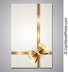 Elegant Gift cards with  bow ribbon