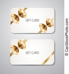 Gift card with bow ribbon - Elegant Gift cards with bow...
