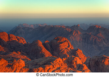 Mars or Earth - Early morning landscape view in Sinai
