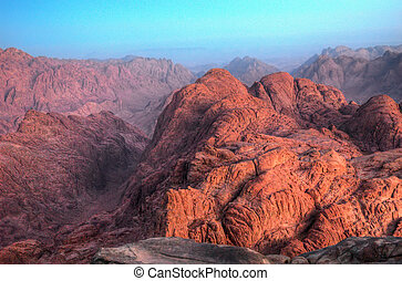 Red Planet - Sunrise in the mountains, Sinai, Egypt