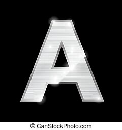 metal letter,A