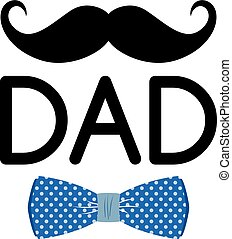 mustache bow tie theme vector art illustration