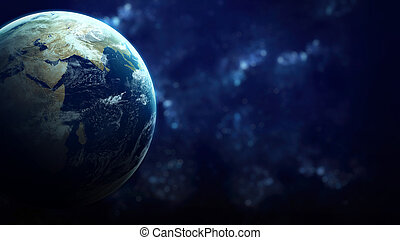 High Resolution Planet Earth view. The World Globe from...