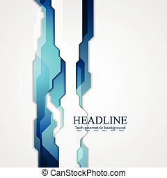 Blue hi-tech vector background