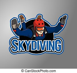 Skydiving design illustration