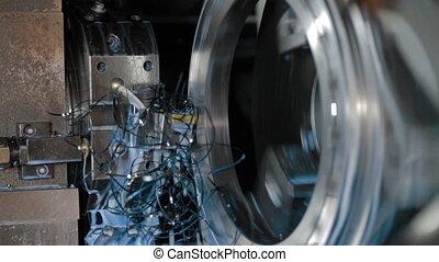 Milling machine milled metal detail