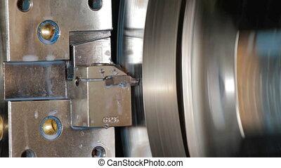 Milling machine milled metal steel detail