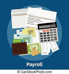 Invoice sheet, paysheet or payroll icon