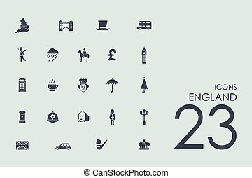 Set of England icons - England vector set of modern simple...