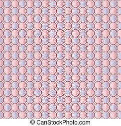 Abstract seamless pattern of circles. Background vector...