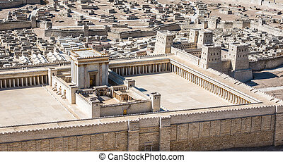 Model of Jerusalem Temple from First Century C.E. - Model of...