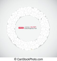 Heart Background Vector Illustration