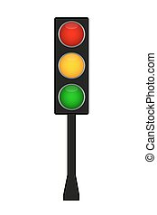 Traffic light. Vector illustration