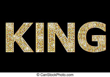 gold king text - Vector illustration of gold king text