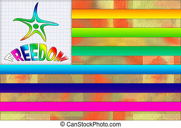Colorful Freedom Flag