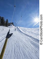 Ski lift track