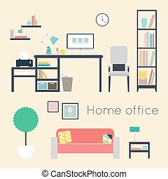 Home office. Furniture and Accessories.