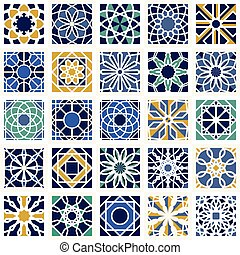 Vector Set of Geometric Patterns - Seamless textures with...
