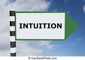 Intuition concept - Render illustration of Intuition title...