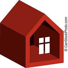 Property developer conceptual business icon, real estate emblem.  Building modeling and engineering projects abstract symbol. Simple vector house.
