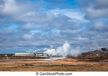 Geothermal Power Station in Reykjanes Iceland
