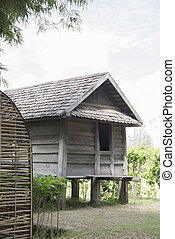 Jim Thompson Farm straw hut in the countryside - Farm...