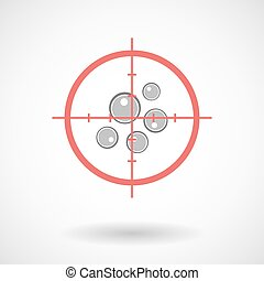 Red crosshair icon targeting oocytes - Illustration of a red...