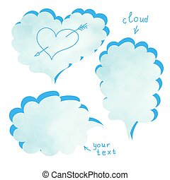 Blank template quote set Template vector set Cloud quotes -...