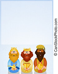 Wise men - illustration of funny three wise men