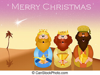 funny Three wise men - illustration of funny Three wise men