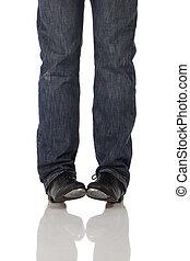 Single tap dancer - Single male tap dancer wearing jeans...