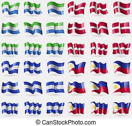 Siearra Leone, Denmark, Honduras, Phillippines. Set of 36...