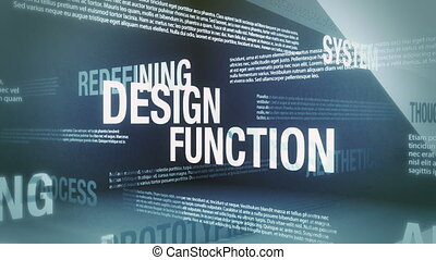 Design Related Terms - Seamlessly looping animation showing...