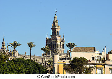 Beautiful Giralda tower in Seville - It is the third biggest...